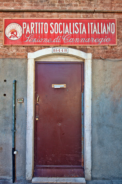 Local office of the Italian Socialist Party, Cannaregio, Venice, Italy