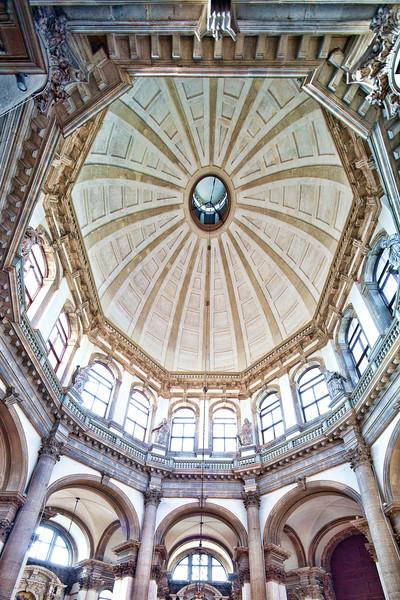 Interior of La Salute church, Dorsoduro, Venice, Italy