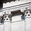 Detail from the facade of San Barnaba church, Venice, Italy