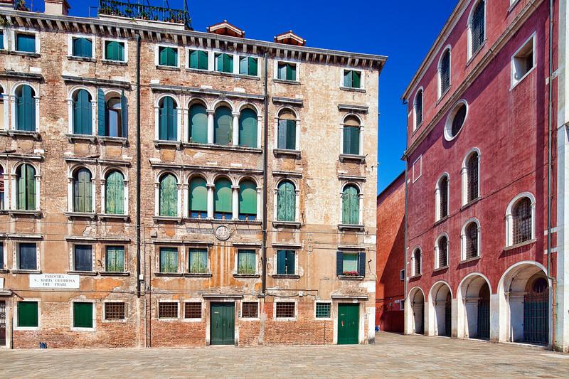 Building on Campo (square) Castelforte di San Rocco, Venice, Italy