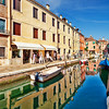 Houses reflected on a canal, Dorsoduro, Venice, Italy