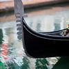 "Detail of a gondola ""ferro di prua"" or prow iron, Venice, Italy"