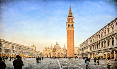 Piazza San Marco, Venice, Italy. High resolution panorama.