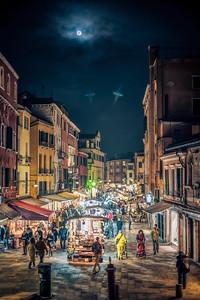 Rio Tera S. Leonardo street from Ponte delle Guglie, Cannaregio, Venice, Italy