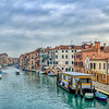 Cannaregio Canal from Ponte dei Tre Archi, Venice, Italy. High resolution panorama.