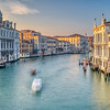 Westward view of the Grand Canal from Ponte dell'Accademia, Venice, Italy