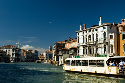 Vaporetto on Canal Grande, Venice, Italy