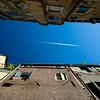 Venetian sky from a gondola, Venice, Italy