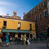 Urban scene at Strada Nuova (New Street), Cannaregio quarter, Venice, Italy