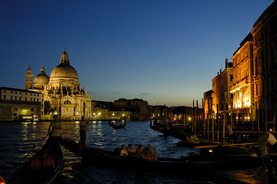 Canal Grande and La Salute church (left), Venice, Italy