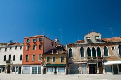 Cityscape, Campo Santa Margherita, Dorsoduro quarter, Venice, Italy