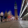 Long exposure shot on San Marco square by night, Venice, Italy