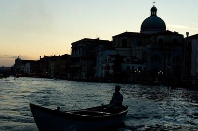 Canal Grande at dusk, Venice, Italy