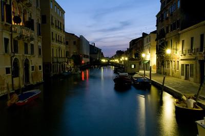 Fondamenta della Misericordia by night, Cannaregio quarter, Venice, Italy