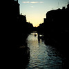 Canal at dusk, Cannaregio quarter, Venice, Italy