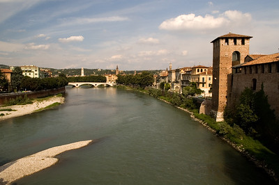 Adigio (Adige) river, Verona, Veneto, Italy