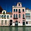 Venetian houses over a canal, Venice, Italy