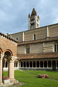 Romanesque cloister of San Zeno monastery, Verona, Veneto, Italy