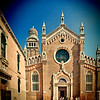 Facade of the Madonna dell'Orto church, Cannaregio, Venice, Italy