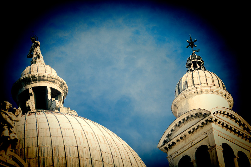 Detail from the top of La Salute church, Venice, Italy