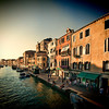 Canal of Cannaregio and Fondamente Pescheria (right) in the evening, Venice, Italy