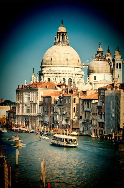 La Salute church from Accademia Bridge, Venice, Italy