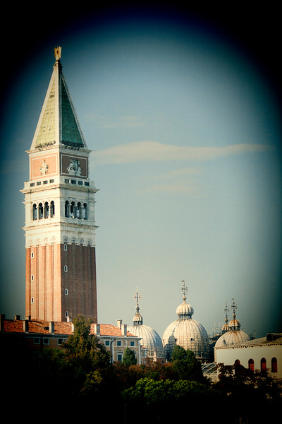 San Marco Campanile and domes from Dorsoduro, Venice, Italy