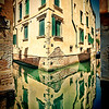 Building reflected on a canal, San Polo, Venice, Italy