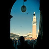 Framed view of the Campanile in St Mark square, Venice, Italy