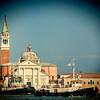 Boats crossing in front of San Giorgio Maggiore Basilica, Venice, Italy
