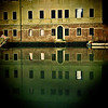 Building reflected on Rio della Sensa by night, Cannaregio, Venice, Italy