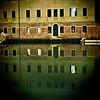 Building reflected on Rio della Sensa by night, Cannaregio, Venice, Italy