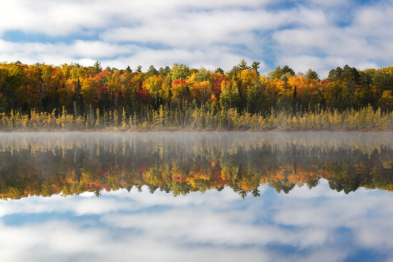 Fall Reflection - Spruce Lake (Northern Highland American Legion State Forest - Wisconsin)