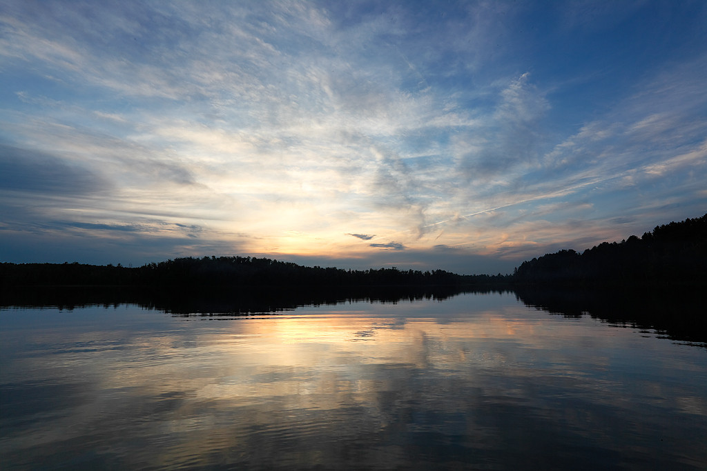 Sunset - Unknown Lake  (Northern Highland American Legion State Forest - Wisconsin)