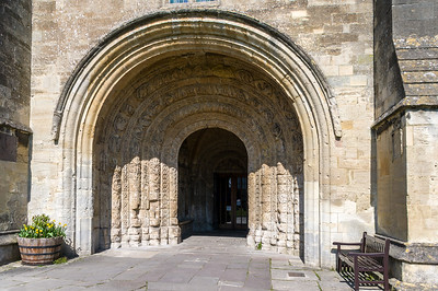Archway carvings, Malmesbury Abbey