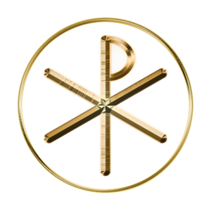 Glowing Chi-Rho symbol