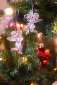 Christmas cherub ornaments.