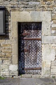 Medieval studded door