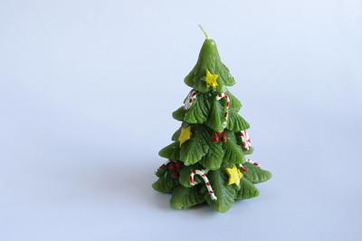Christmas tree candle.