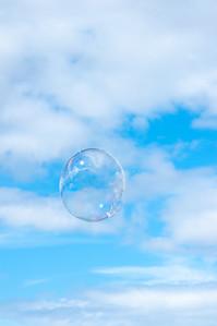 Bubble floating upwards