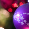 Purple bauble and bokeh
