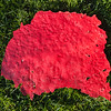 Red peeled paint background