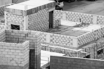 Villas under construction in Bahrain