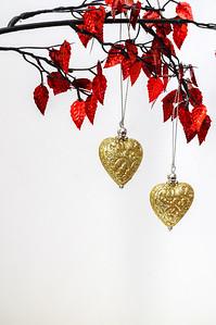 Christmas hearts.