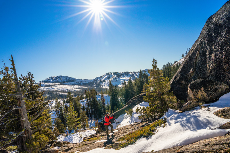 Woman Hiker on Donner Summit