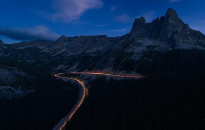Twilight at Stilleto Peak