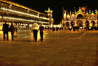 San Marcos square at night. Venice Italy