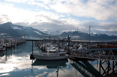 SEWARD, ALASKA/ USA - July 18, 2011 - The harbor at Seward, Alaska, is a popular tourist location for boat tours of Resurrection Bay. Seward is also a common stop for cruise ships