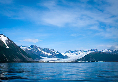 Water and blue sky of Resurrection Bay Alaska