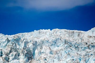 Glacier and blue sky in Alaska